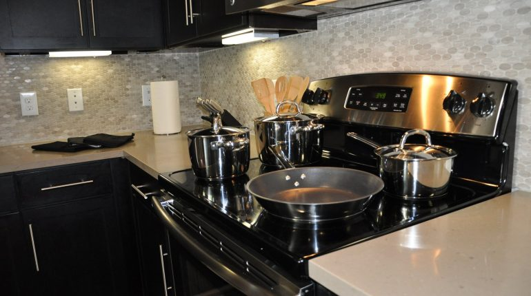 Kitchen, from the Texas design at Premier Patient Housing.