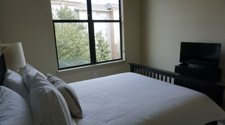 Bedroom from the New York Design at Premier Patient Housing.