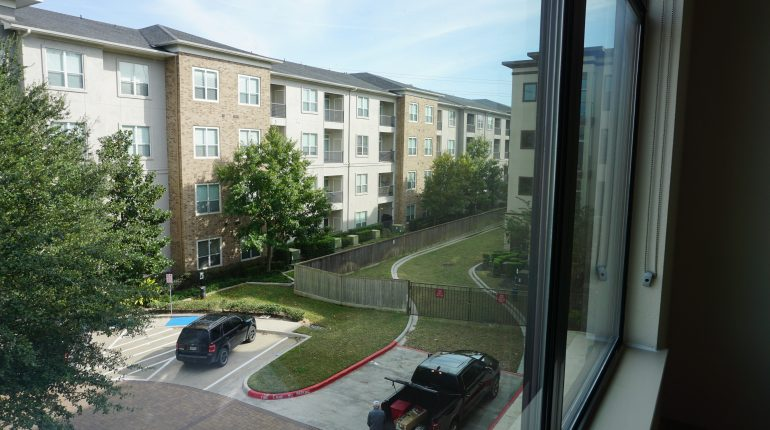 View from second bedroom from the New York Design at Premier Patient Housing.