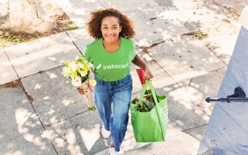 Instacart Grocery Delivery Service, stock photo of delivery